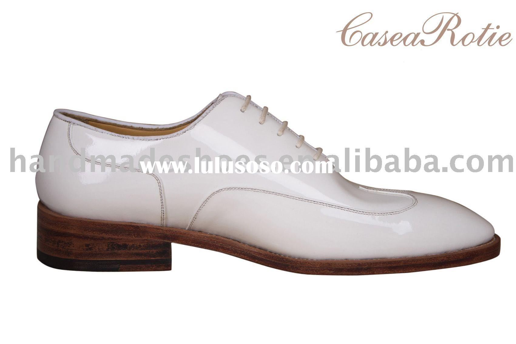 NEW style the leather upper white fashion man shoe handmade by Italy technic