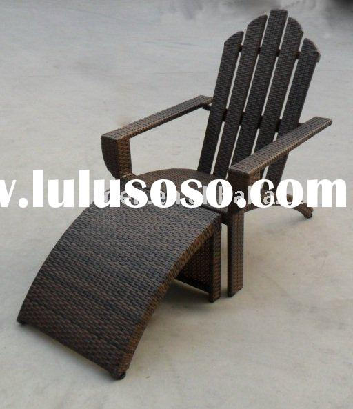 Rattan Adirondack chair folding beach chair