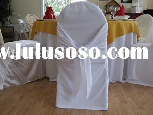 chair seat cover  , wedding chair cover ,polyester chair cover