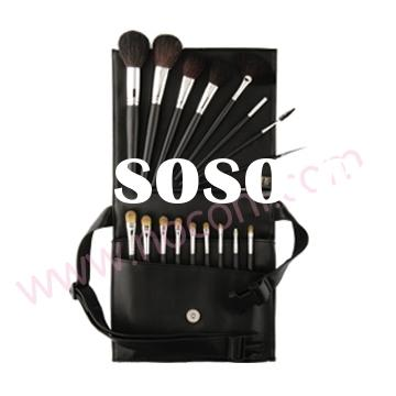 18 cosmetic brush set with waist bag