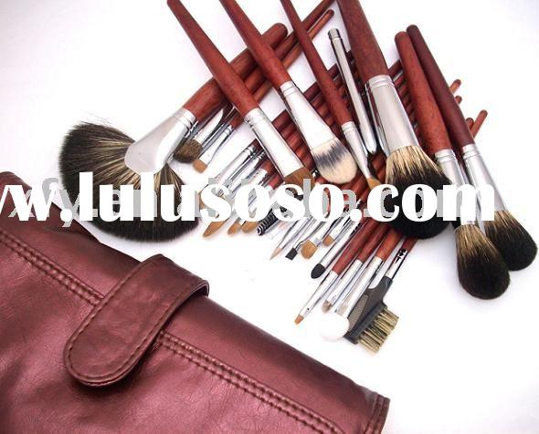 26pcs Red  roll   makeup Brush  set  -high quality