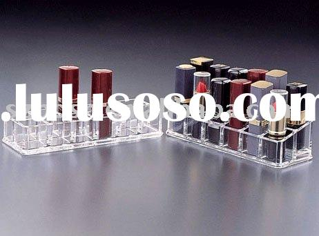 Acrylic Cosmetic Display,Perspex Brush Stand,Plexiglass Cosmetic Organizer