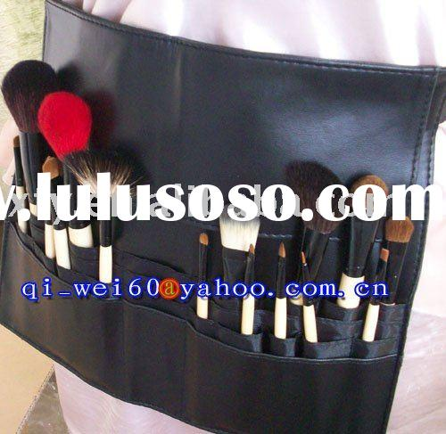 Goat Hair & Squirrel Hair Makeup Apron Profession High Quality 16pc Belt Bag Brush Set Belt Leng