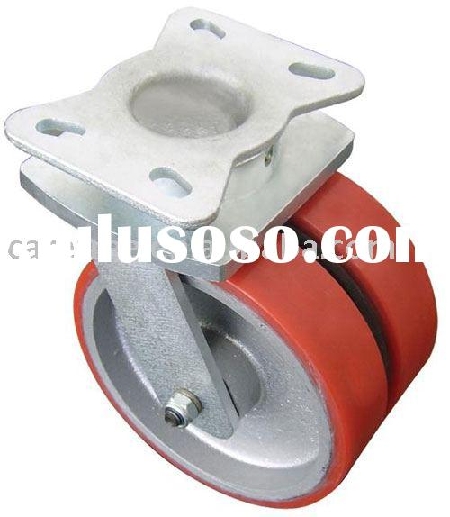 Heavy duty Caster, industrial caster, cast iron caster with PU wheel