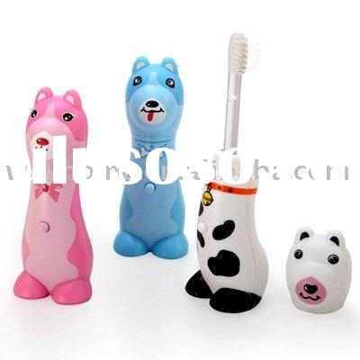 Kids children cute Toothbrush Holder w/Brush &Cup Kids Bathroom Set Suction Holder decor