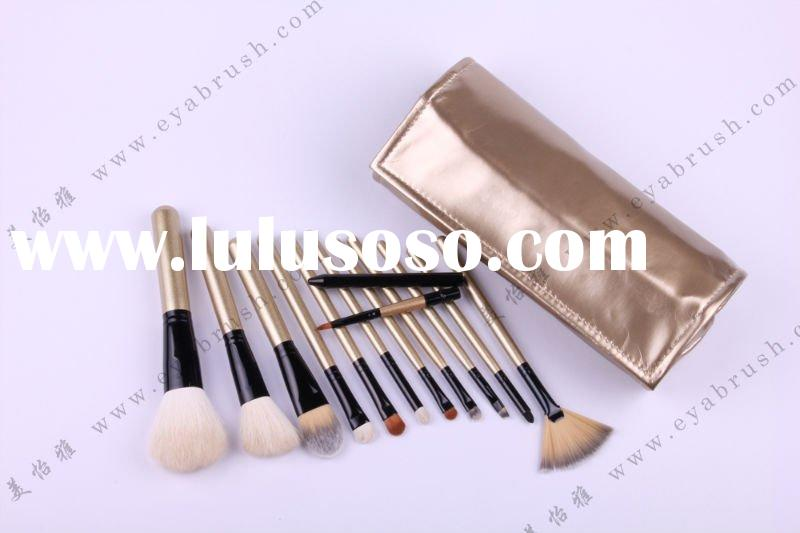 Makeup/Make-up Brush Set with Goat Hair Tip and Wooden Handle,OEM&ODM orders are welcome