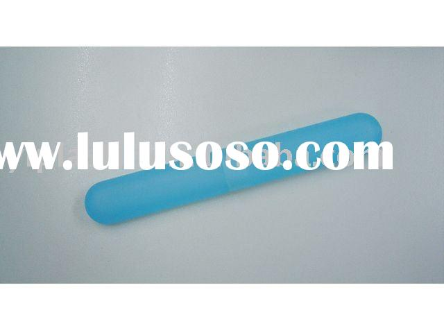 Plastic toothbrush travel holder