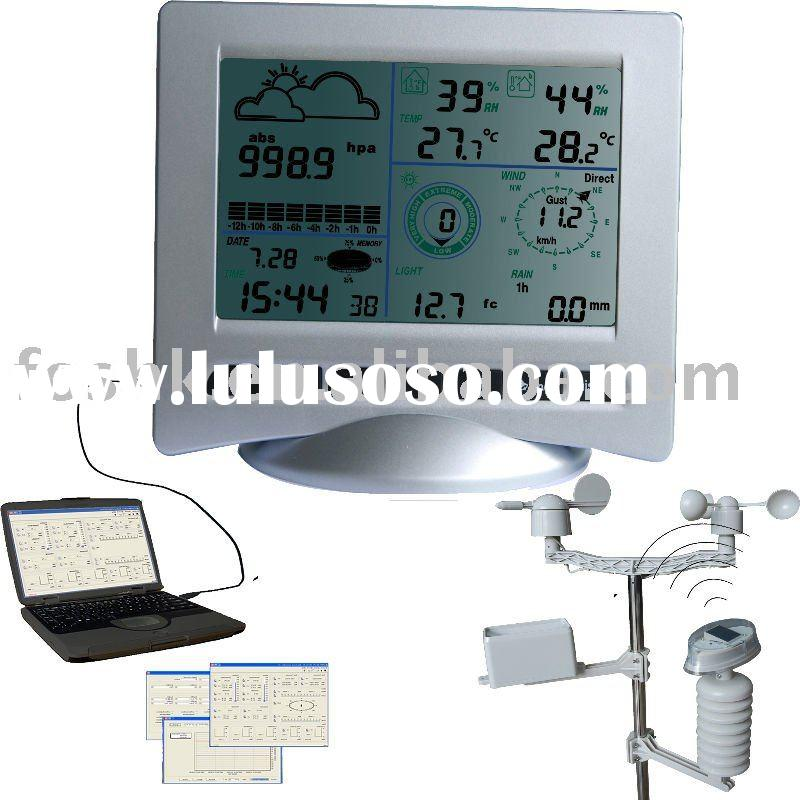 Professional weather center with solar transmitter (WH3081)