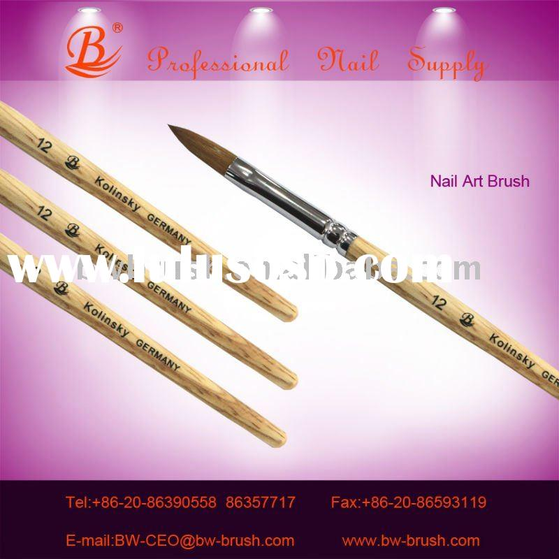 Wooden handle Kolinsky nail brush for nail art