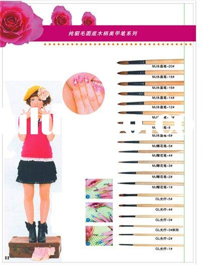 professional kolinsky acrylic  nail  art  brush