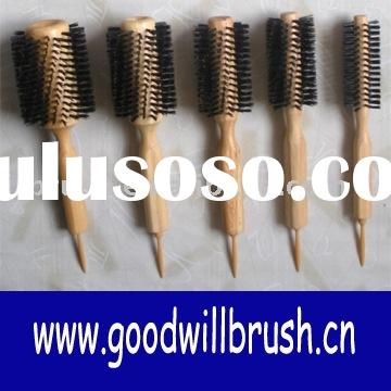 round wooden hair brush,wooden brush, antistatic hair brush