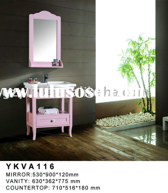 Contemporary single sink bathroom vanity