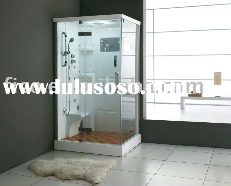 Euro design Acrylic back board steam room with wood base FC-115