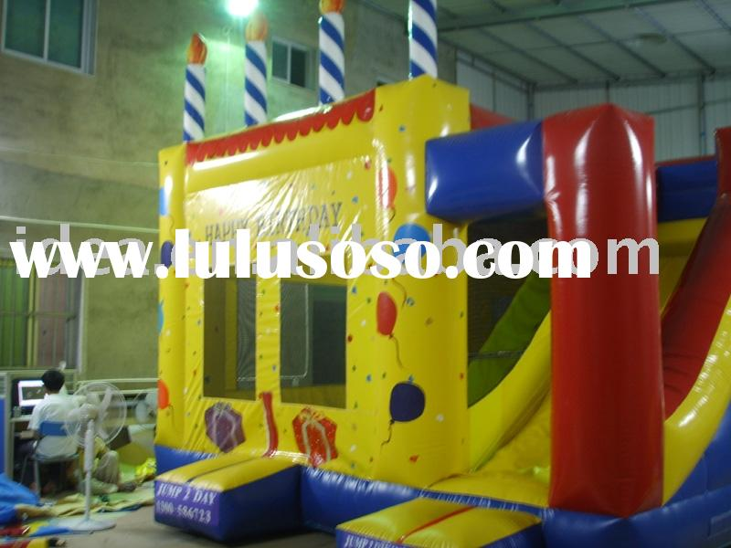 Inflatable Birthday Cake, Birthday Bouncy Castle, Jumping Castle