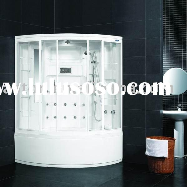 Luxury steam shower bath room cabinet with massage bathtub