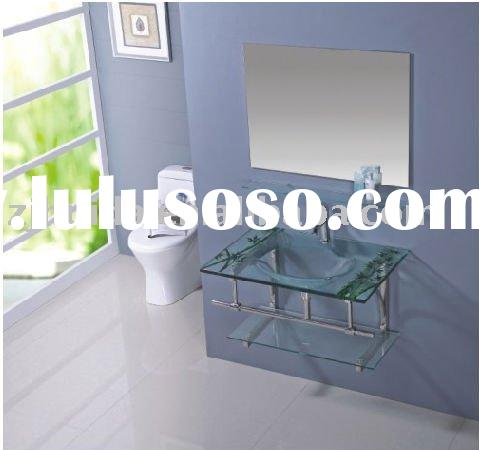 Morden (HD-CT8107) Glass Sink Bathroom Furniture