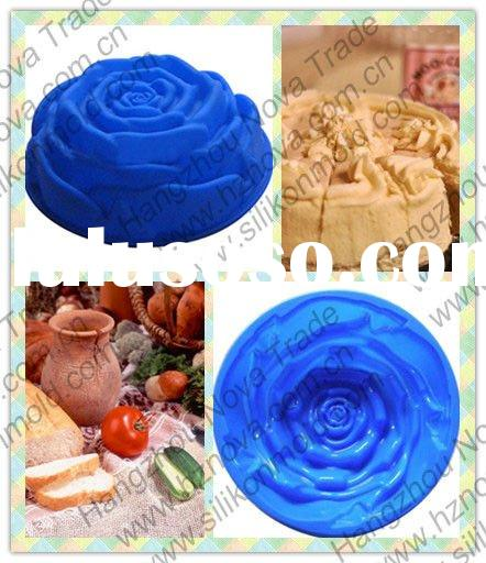 No.A013 big rose cake mold silicone cupcake kitchenware baking molds