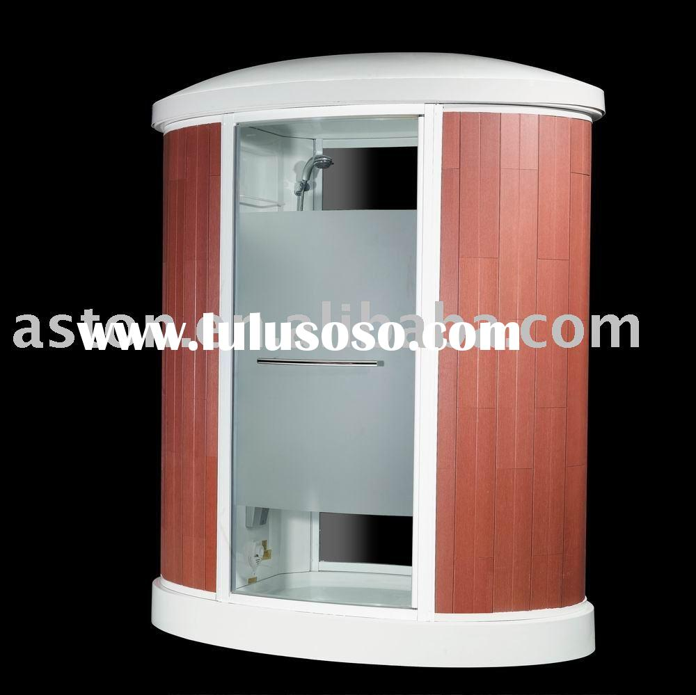 Outdoor sauna Steam Room(wooden acrylic glass shower door)