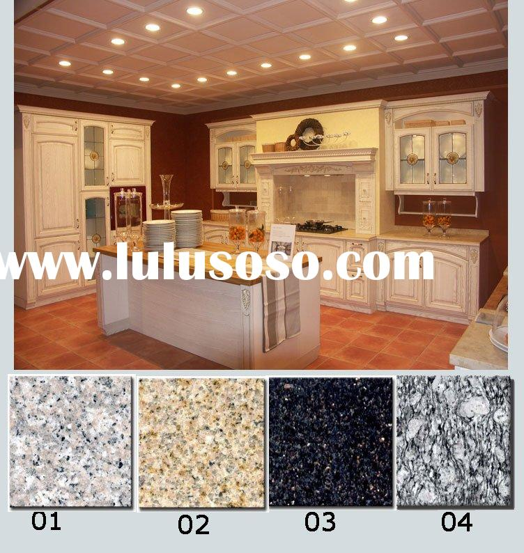 Standard Kitchen Cabinets/Kitchen Cabinet/Furniture/Cabinetry with Granite Countertop (Solid Oak Woo