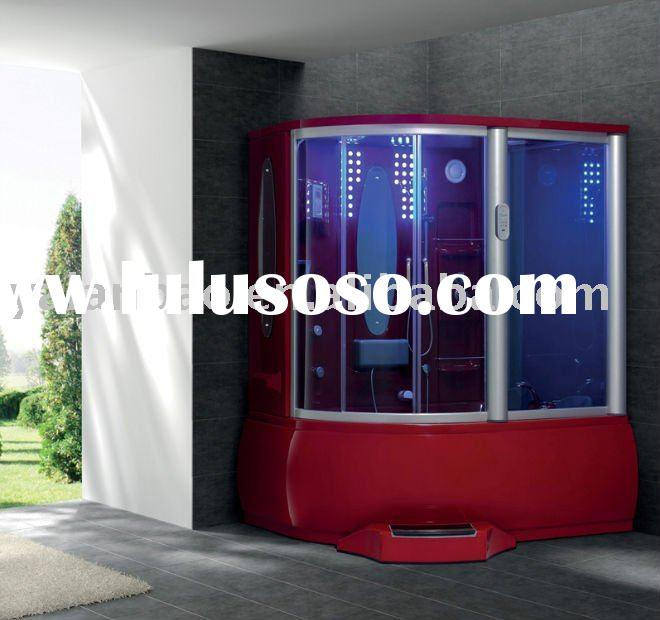 Steam Shower Room with Spa tub TV/MP3 red color
