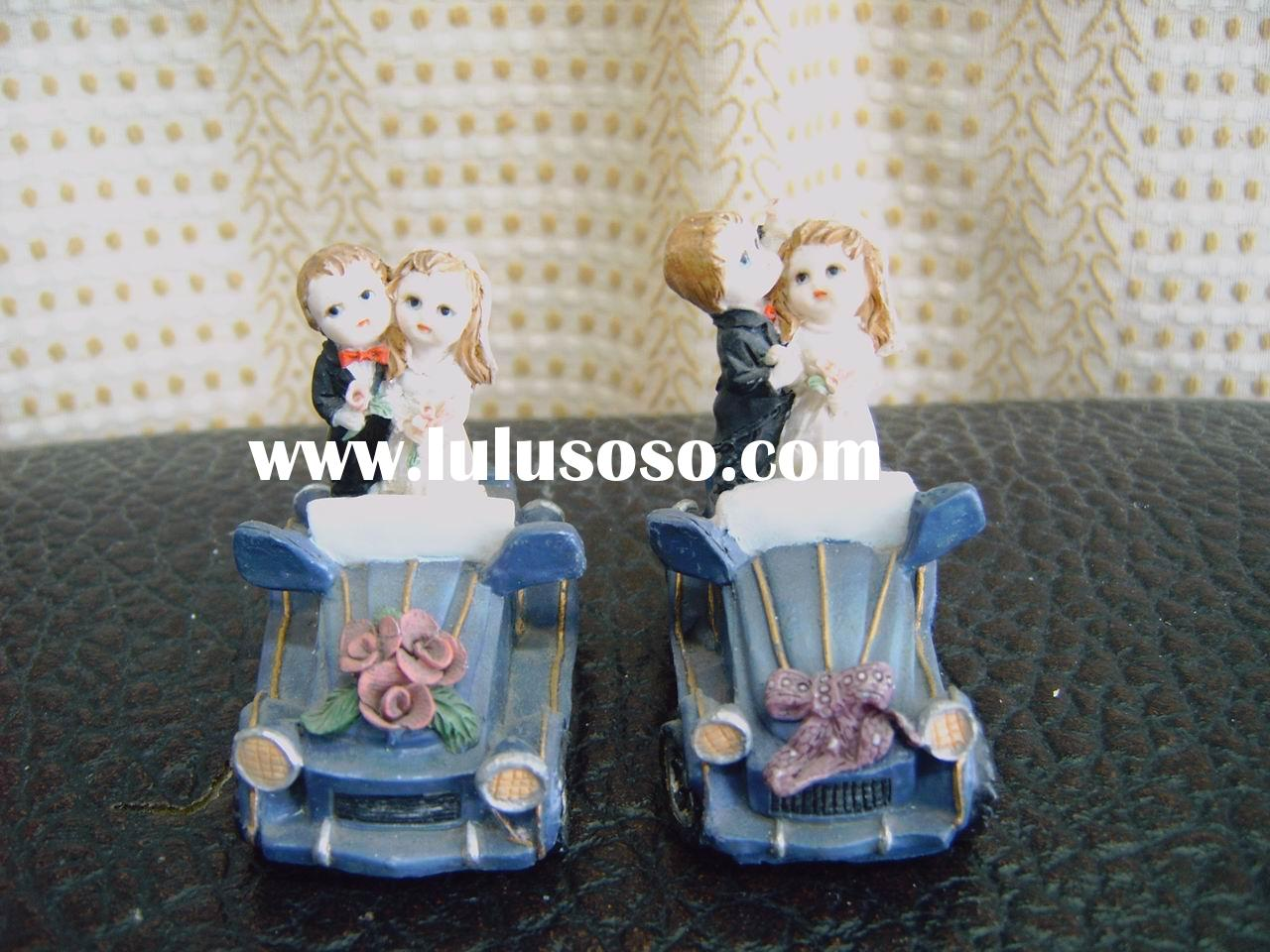Wedding Couples in the Car(cake topper)