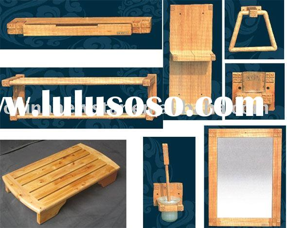 Wooden bath accessories,bathroom accessories,towel shelf