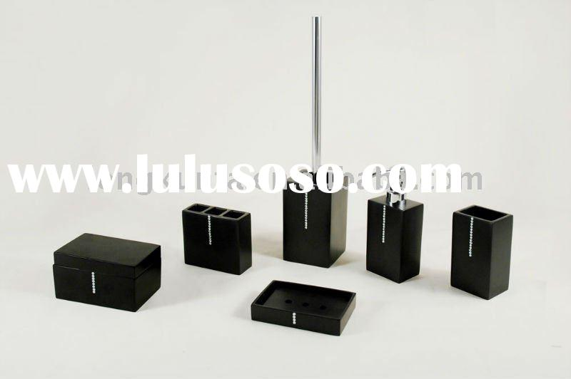 black bathroom accessories sets uk