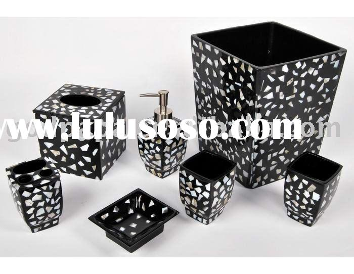 Black bathroom accessories black bathroom accessories for Black and white bathroom sets
