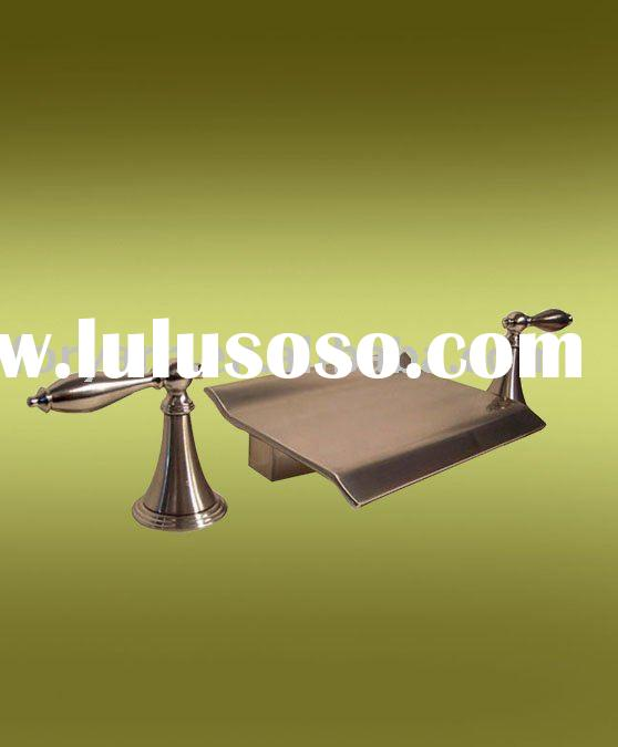 brushed nickel waterfall bathtub faucets,bathroom accessories,bathtub tap