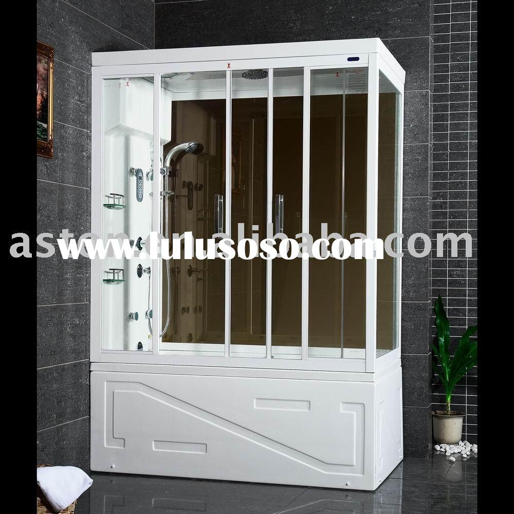 computer steam shower bath room enclosure with glass door whirlpool tub