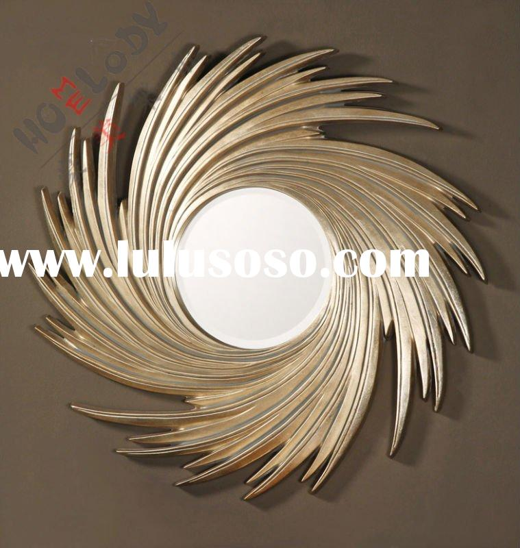 contemporary round tornado wall mirrors