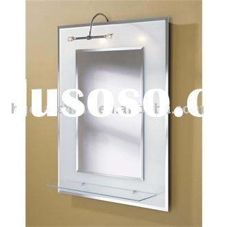 lighted wall bathroom mirror
