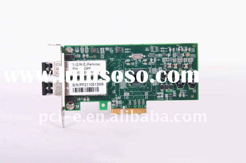 1000M nic lan PCI-E ethernet dual-port adapter network card SFP slot
