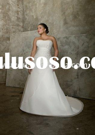 100% Guarantee Quality Plus Size Wedding Dress Wholesale /Retail