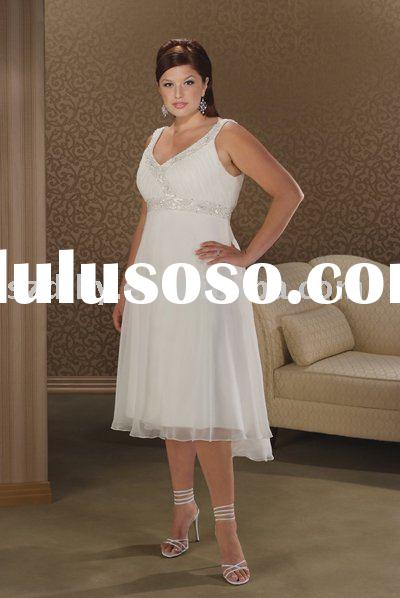 2010 Fashionable and elegant Superior quality Plus size wedding dress SYF-1522