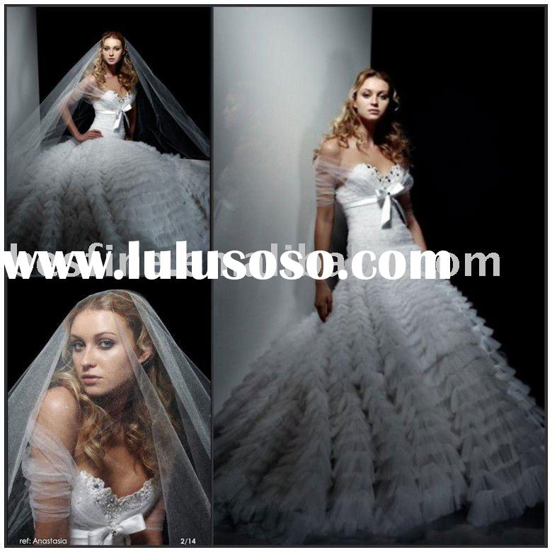 2012 new  fashion high quality beauty wedding gown wd6408