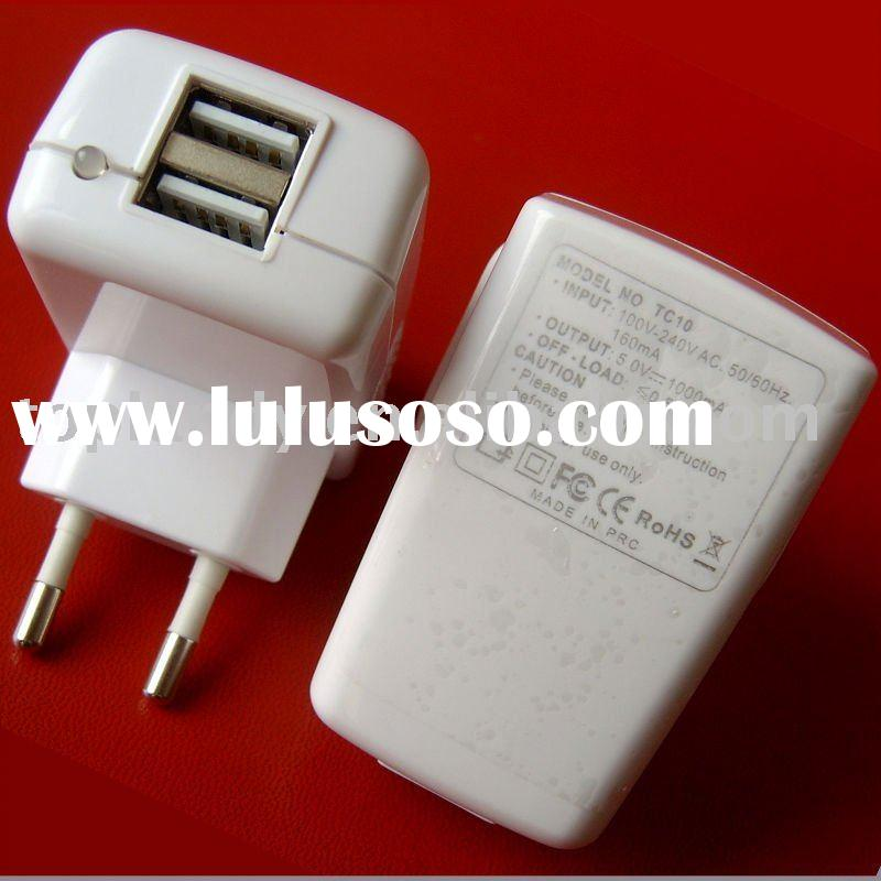 CE 2 usb adapters universal charger for all brand mobile phone