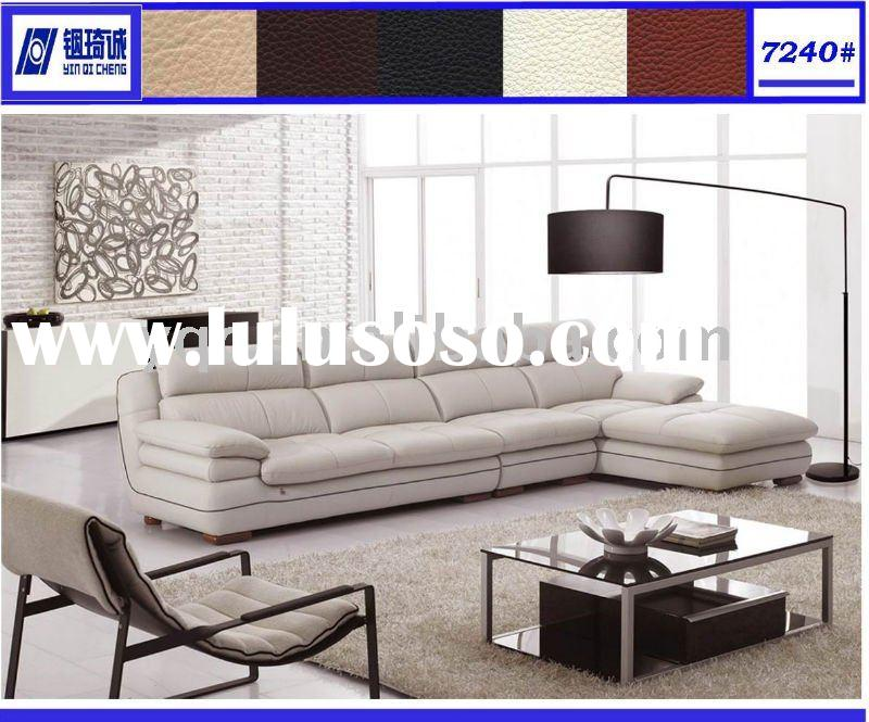 Italian leather living room furniture 7240#