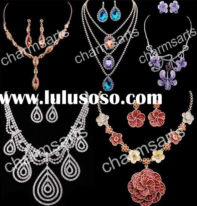 Jewelry Sets Necklace Earrings Sets Rhinestone Jewelry Sets ST0-0