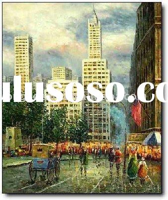 New york landscape oil painting on canvas