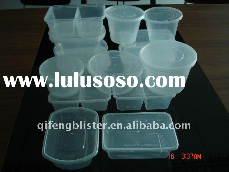 Round and rectangular disposable plastic food containerand plsstic box and food box