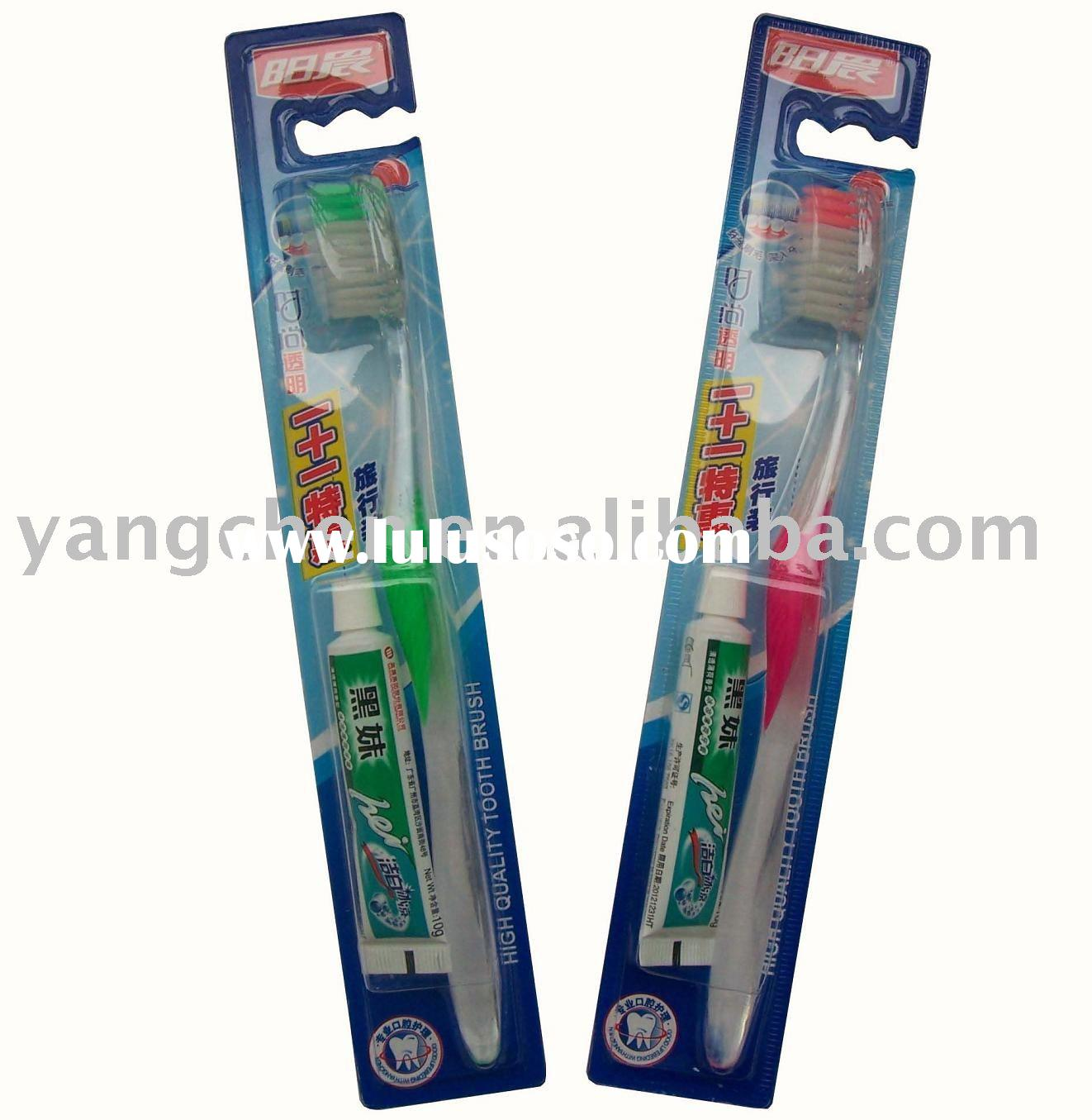 traveling toothbrush + toothpaste set