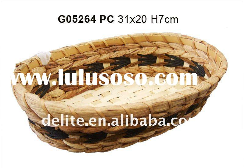 decorative storage basket with paper jute decor for gift