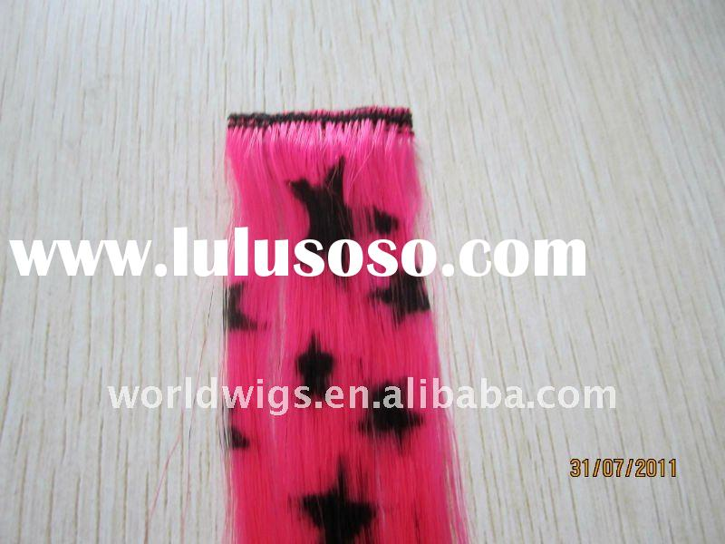 2011 Fashion style synthetic clip in feather hair extension