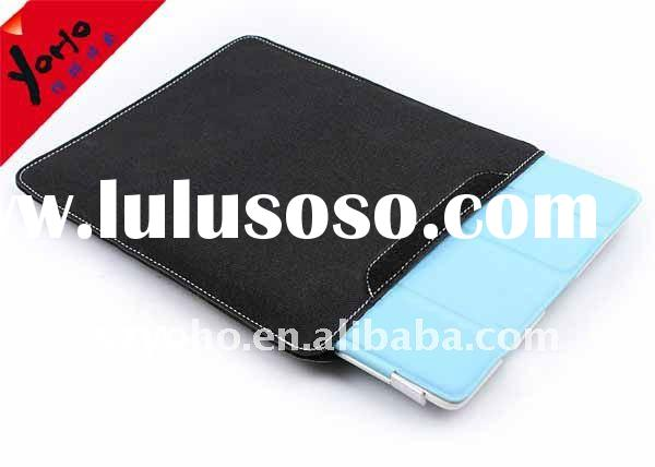A-class with zag-zig stitching leather protective case for ipad