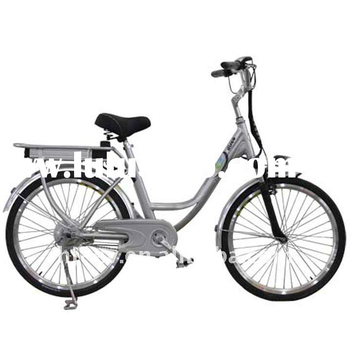 Electric Bike with 240W Brushless Hub Motor, 200 to 220 Rotating Speed and 35 to 40km Range
