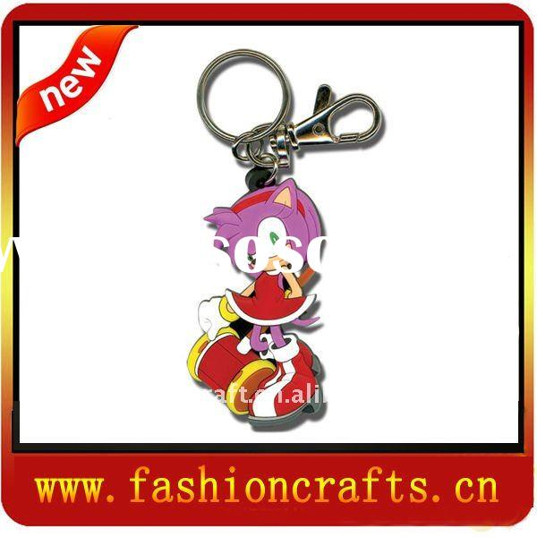Hot sell 2011 soft pvc key chain/pvc keychain