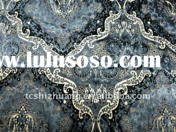 Nylon Rayon printed with golen fabric for clothes and home-textile