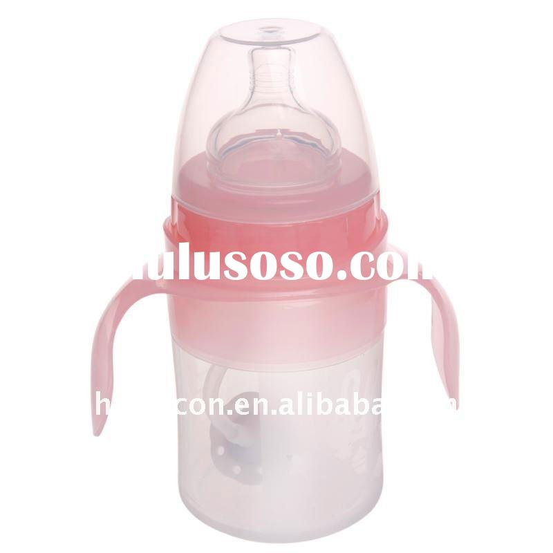 BPA free silicone baby bottle with standard neck