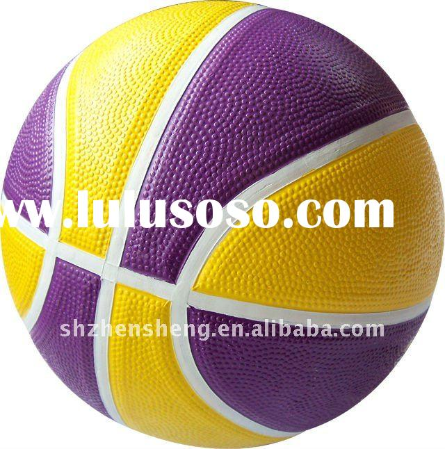 Colorful rubber basketball for promotion